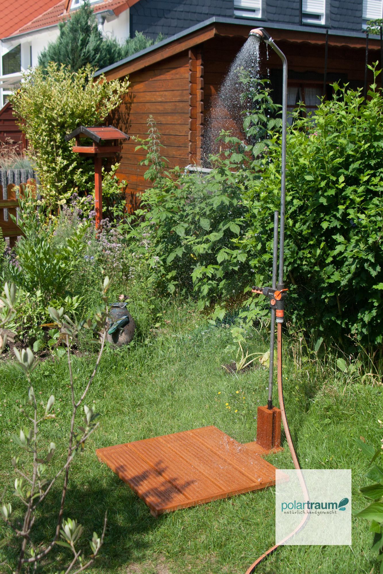 Gartendusche Halter