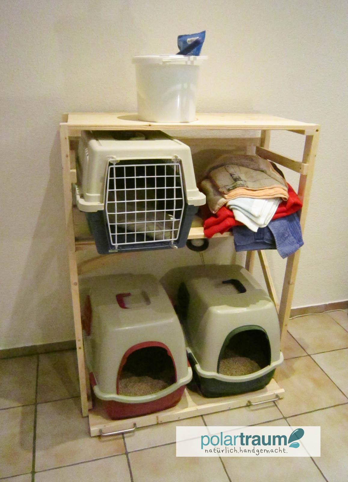 Regal für Katzenklo