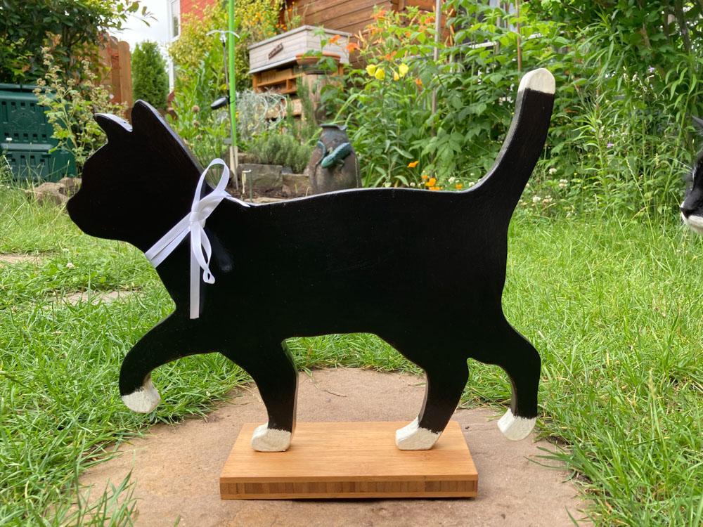 Katzen-Silhuette für den Garten